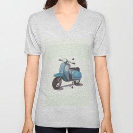 Vintage Scooter Unisex V-Neck