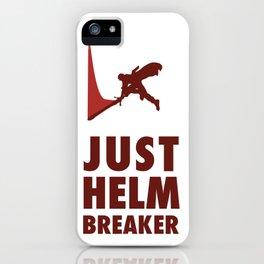 JUST HELM BREAKER RED iPhone Case