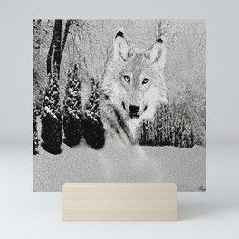 WINTER WOLF Mini Art Print
