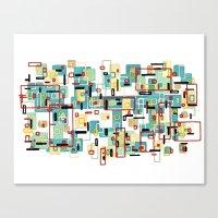 mod Canvas Prints featuring Mod by Tina Carroll