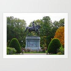 Washington Statue Art Print