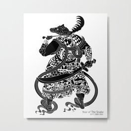 Chinese zodiac sign, Year of the Snake Metal Print