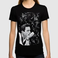 Johnny Cash Womens Fitted Tee Black SMALL