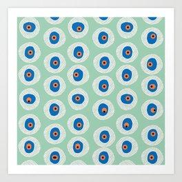 Evil Eye Charm - Hemlock  Art Print
