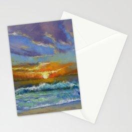 Malibu Beach Sunset Stationery Cards