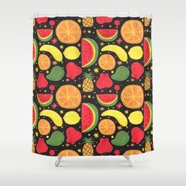 Fruity Fruit Pattern Shower Curtain