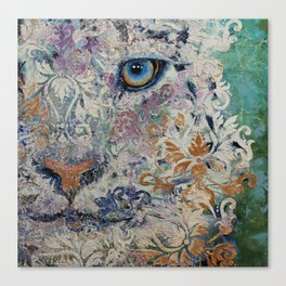 Royal Snow Leopard Canvas Print