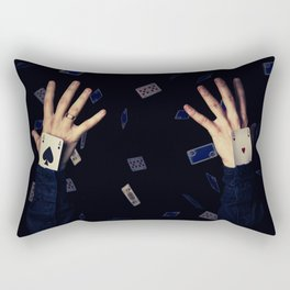 aces in sleeve Rectangular Pillow