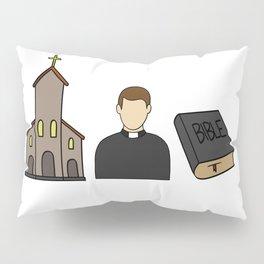 priest Bible Church Christ christian Believer Pillow Sham