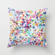 Watercolor Drops Throw Pillow