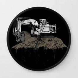 Excavation Wall Clock