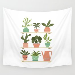 Plant Shelves Wall Tapestry