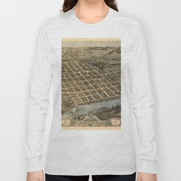 Map Of Knoxville 1871 Long Sleeve T-shirt