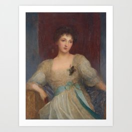 Portrait of Norah Bourke by George Frederic Watts, circa 1891 Art Print