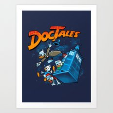 Doctales Dr Who/Ducktales Art Print