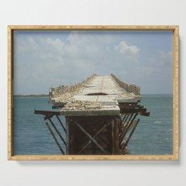 Bridge to Nowhere (Florida Keys) Serving Tray