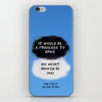 tfios iPhone & iPod Skins featuring TFIOS Quote #2 by Jerry Maestas