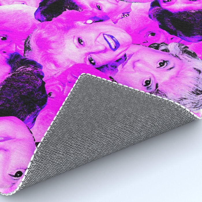 Golden Girls Toss in Electric Pop Pink Rug