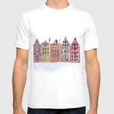 Coloured Houses Mens Fitted Tee White MEDIUM