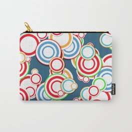 Pattern circle top Carry-All Pouch