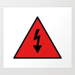 electric current danger signal Art Print