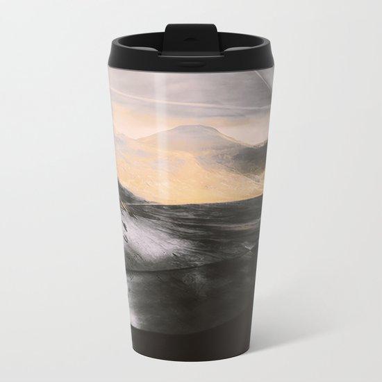 ABSTRACT#411 Metal Travel Mug