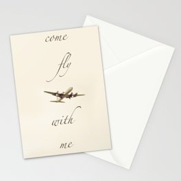 Come Fly With Me 2 Stationery Cards