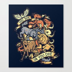 Win or Die Canvas Print