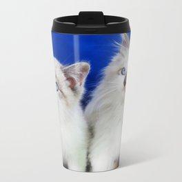 Two Cute Kittens Metal Travel Mug