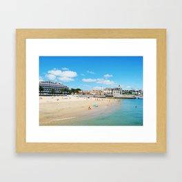 Cascais beach Framed Art Print