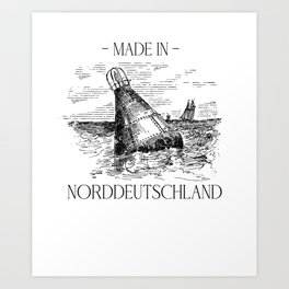 North German home North Sea T-shirt gift coast Art Print