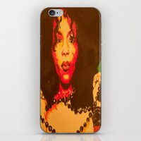 erykah badu iPhone & iPod Skins featuring Erykah Badu  by Paintings That Pop