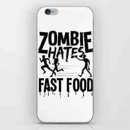 Halloween Zombie Fast Food funny costume gifts iPhone Skin