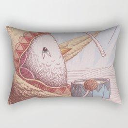 Drummer Bird Rectangular Pillow