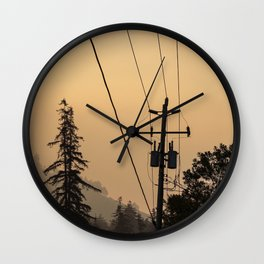 Yellow Mountain Haze Wall Clock
