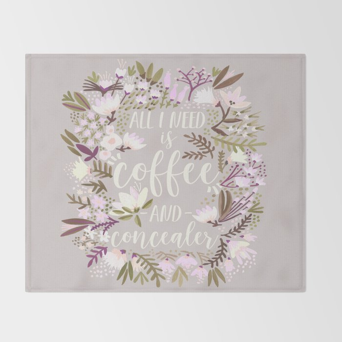 Coffee & Concealer – Spring Palette Throw Blanket