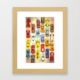 Vintage Toy Cars Framed Art Print