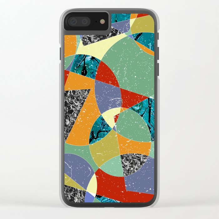 Abstract #100 Clear iPhone Case