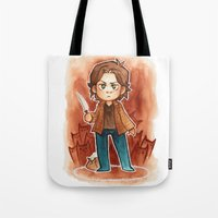 sam smith Tote Bags featuring sam by noCek