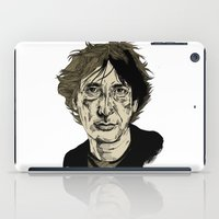 neil gaiman iPad Cases featuring Neil Gaiman by Andy Christofi