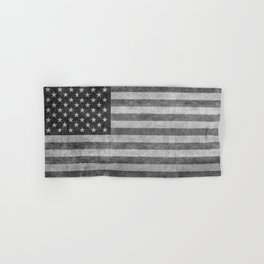 American flag - retro style in grayscale Hand & Bath Towel