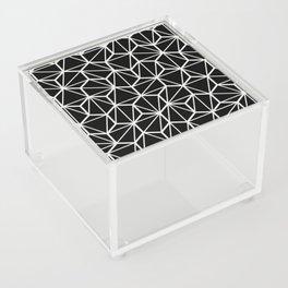 Geometric / Low Poly Pattern (White) Acrylic Box