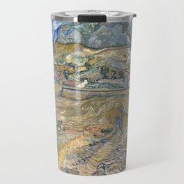 Van Gogh, Enclosed Wheat Field with Peasant Travel Mug