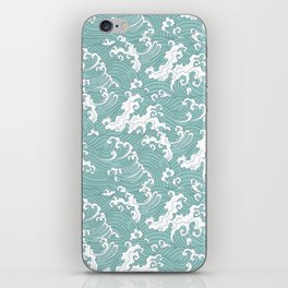 Traditional Hand Drawn Japanese Wave Ink iPhone Skin