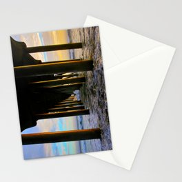 Sunset Under The HB Pier  9/1/13 Stationery Cards