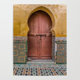Morrocan Door and Tile Work Poster