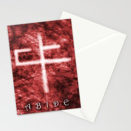 Abide Red Stationery Cards