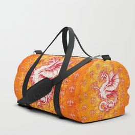 Noble House GINGER FIRE / Grungy heraldry design Duffle Bag