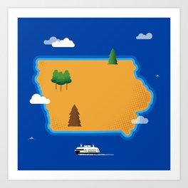 Iowa Island Art Print