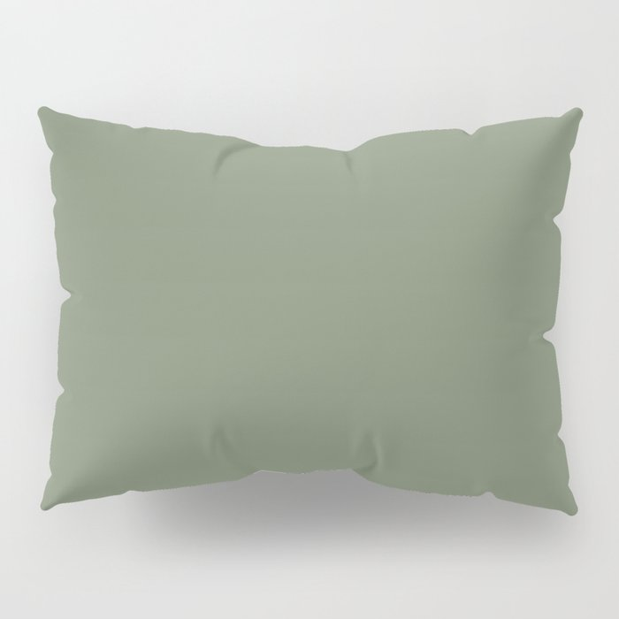 Solid Dark Camouflage Green Color Pillow Sham